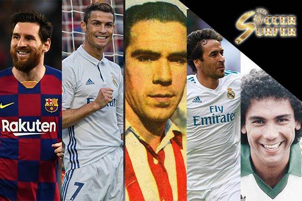 5 นักเตะ ที่ทำประตูได้มากที่สุดใน ลาลีกา สเปน แทงบอล